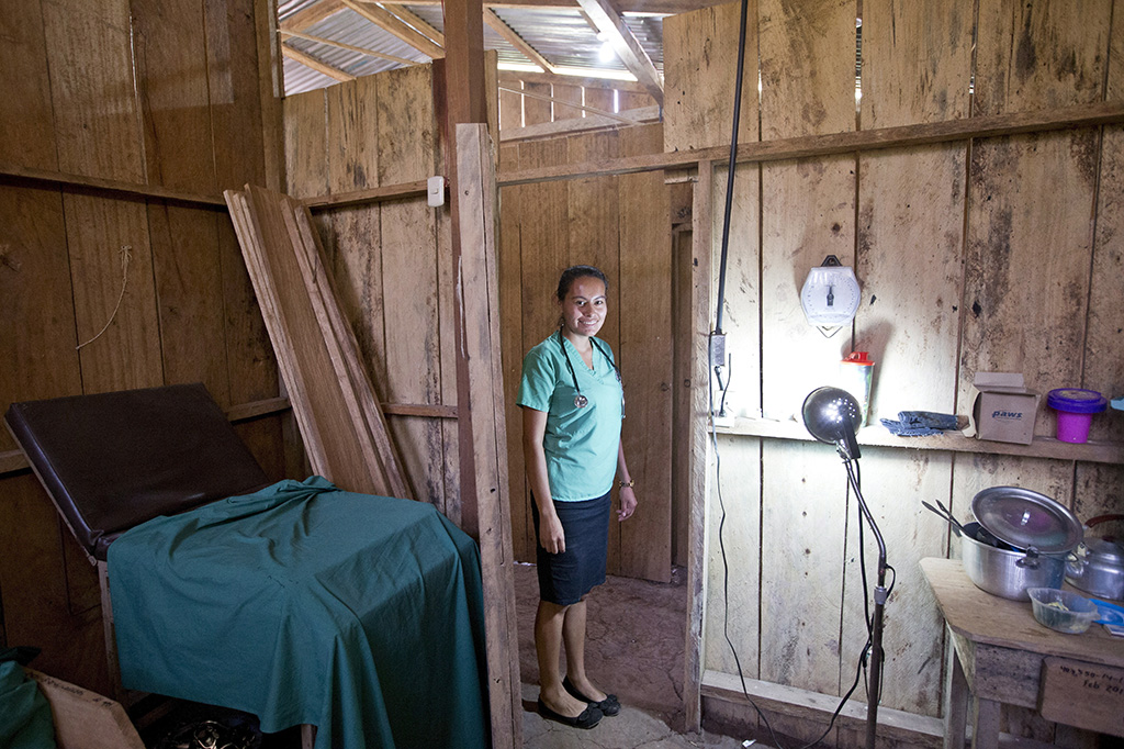 In the town of Dorf Ocote Tuma, Nicaragua, a nurse runs a small health station to compensate for the lack of a clinic in the region