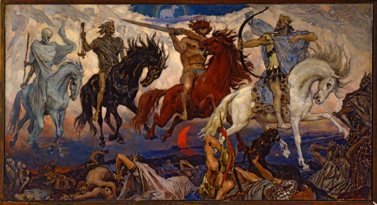 Credit: Four Horsemen of Apocalypse by Viktor Vasnetsov (1887).