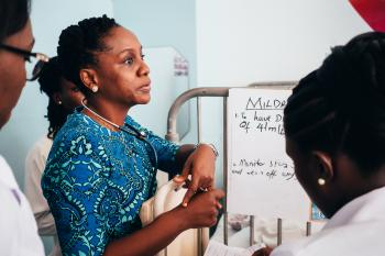 Dr. Cathy Segbefia, pediatric oncologist at Korle Bu Children's Hospital, Ghana