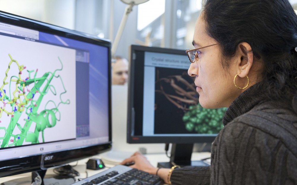 Using open access platforms, scientists can share information about target molecules or the latest research findings.