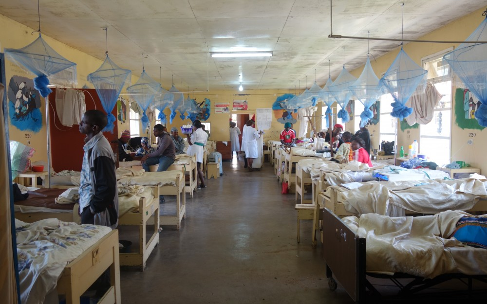 7 of 7 A look along the rows of beds in a general pediatrics ward at Mbingo Baptist Hospital in Bamenda, Cameroon.