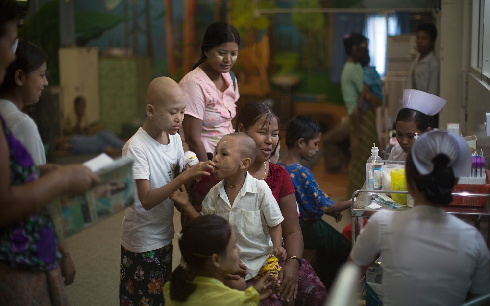 6 of 7 Dailiy (left), was diagnosed with leukemia, the most common type of childhood cancer.