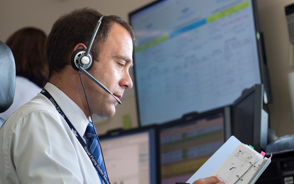 When a Royal Flying Doctor Service employee receives a patient call, he responds quickly to coordinate an aeromedical mission