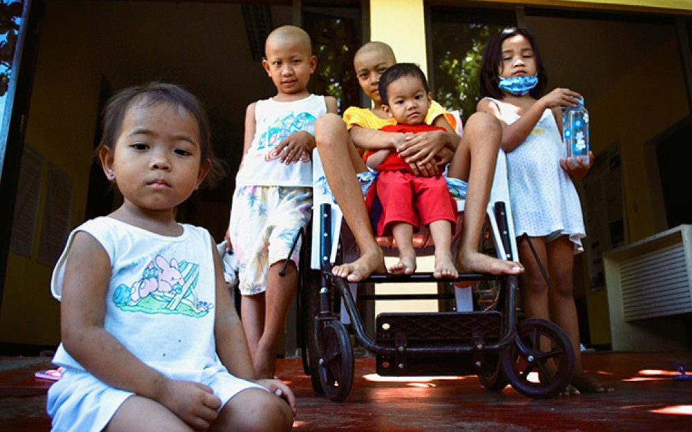 Young cancer patients at Southern Philippines Medical Center