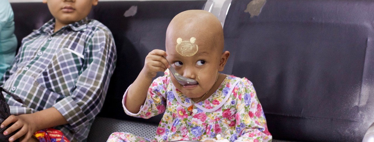In Yangon Children's Hospital, Myanmar, World Child Cancer is supporting pediatric oncology services.