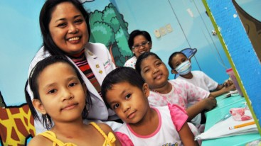 Dr Mae Dolendo, lead paediatric oncologist at Davao City's Southern Philippines Medical Center