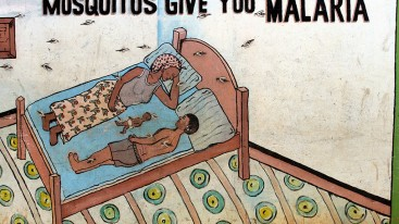 A different kind of education. In Liberia, paintings warn how dangerous a malaria infection is